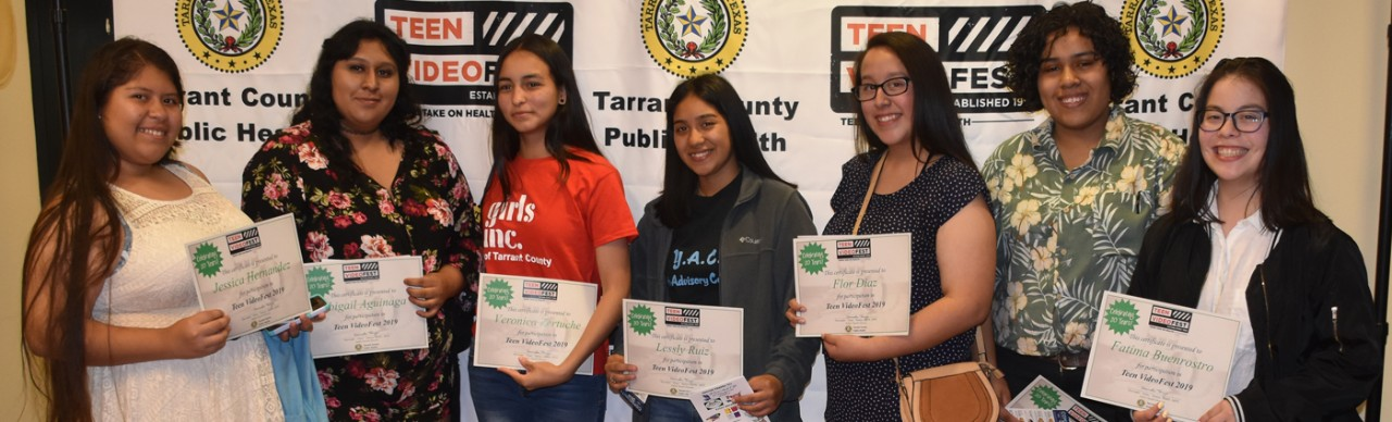 Participants in this year's Teen Videofest included members of Girls, Inc., a local teen youth organization.