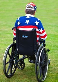 Veteran on a wheel chair